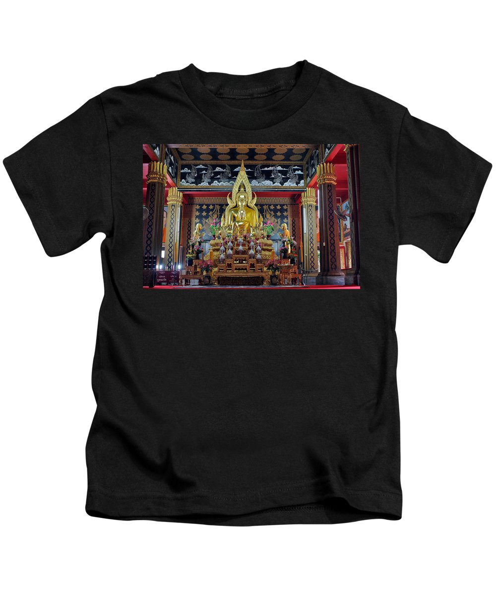 3scape Kids T-Shirt featuring the photograph Golden Buddha by Adam Romanowicz