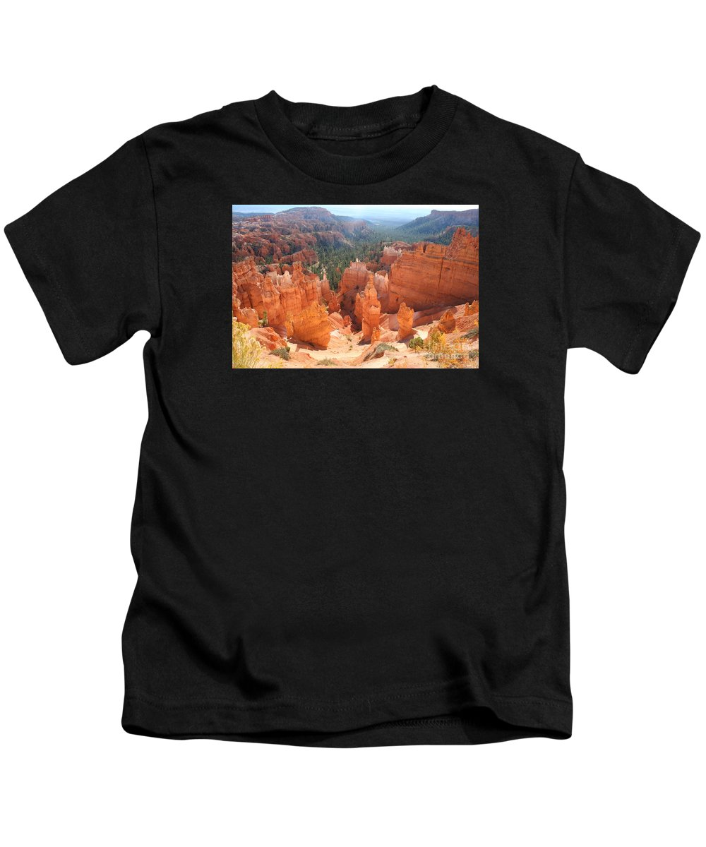 Canyon Kids T-Shirt featuring the photograph Golden Rocks Of Bryce Canyon by Christiane Schulze Art And Photography