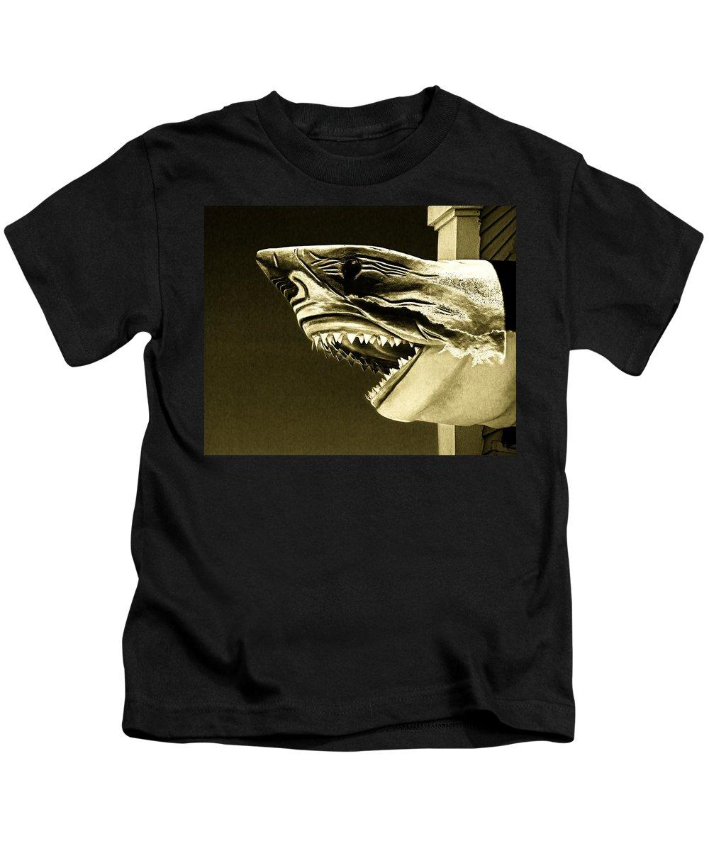 Golden Shark Kids T-Shirt featuring the photograph Golden Shark In Ocean City by Bill Swartwout Fine Art Photography