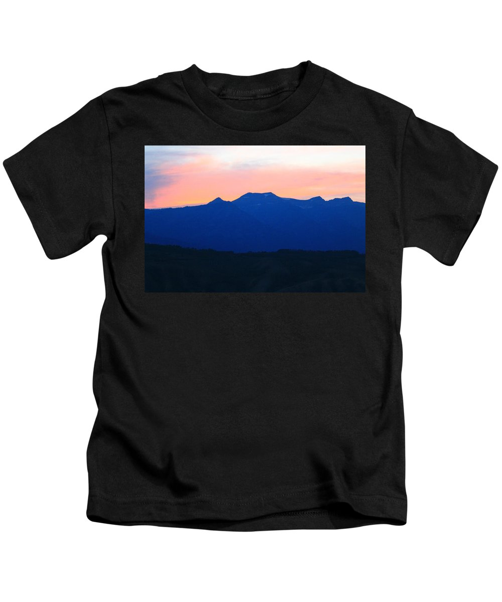 Sunset Kids T-Shirt featuring the photograph Good Night Grand Teton by Catie Canetti