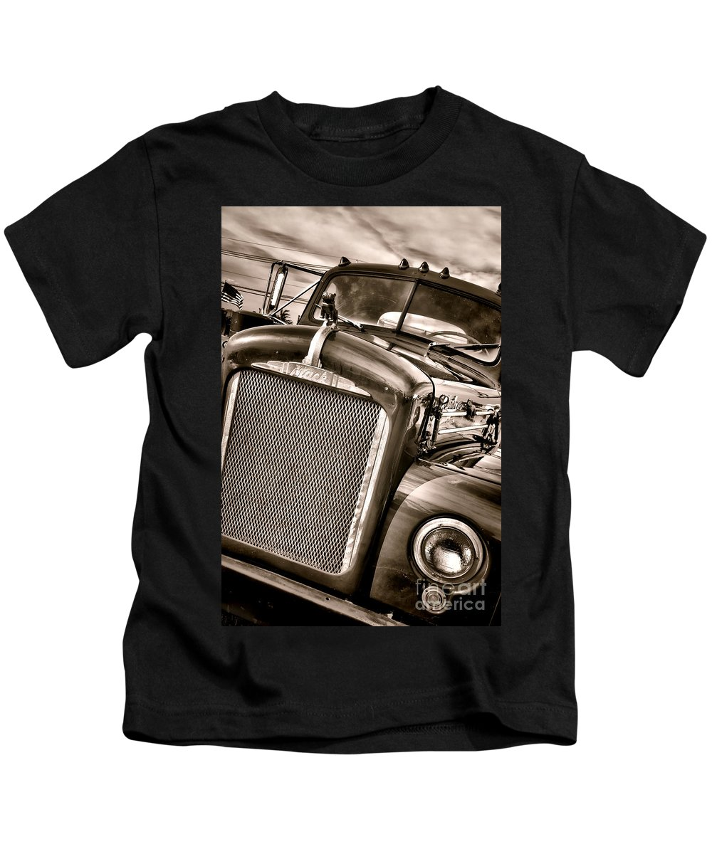 Mack Kids T-Shirt featuring the photograph Good Old Mack by Olivier Le Queinec