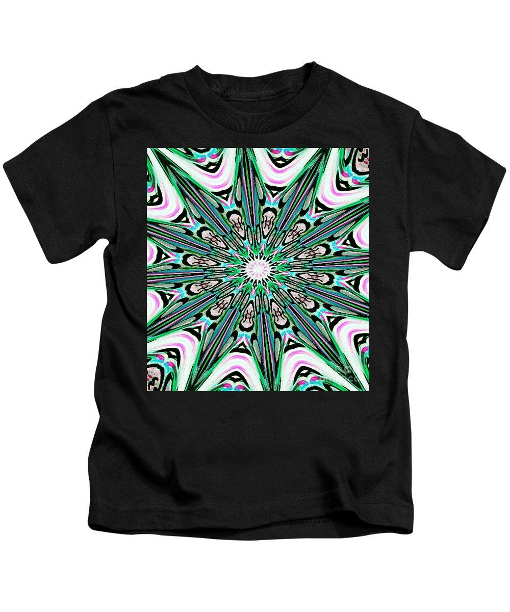 Tribal Kids T-Shirt featuring the mixed media Graceful Giant by Alexander Ladd