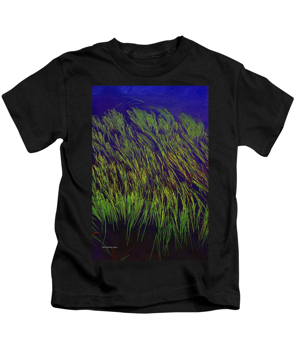 Grass In The Water Kids T-Shirt featuring the photograph Grass In The Lake by Tom Janca