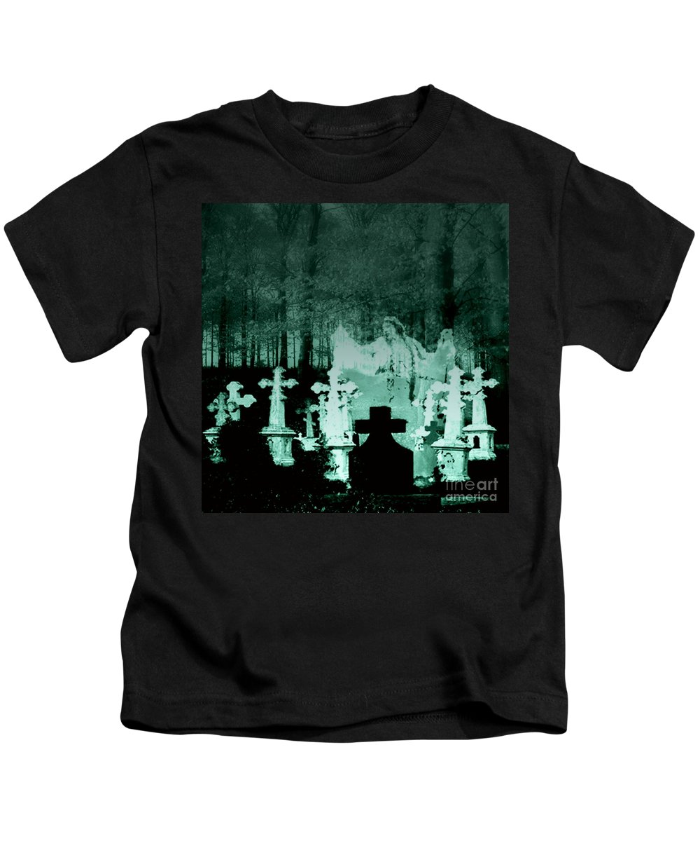 Grave Kids T-Shirt featuring the digital art Grave Dancing by Desiree Paquette