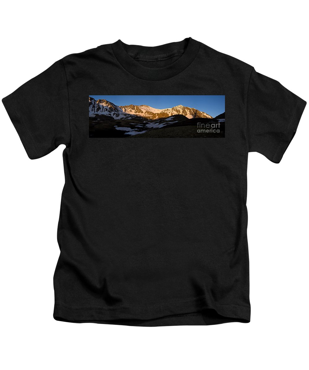 Torreys Peak Kids T-Shirt featuring the photograph Grays Peak And Torreys Peak Panorama by Benjamin Reed