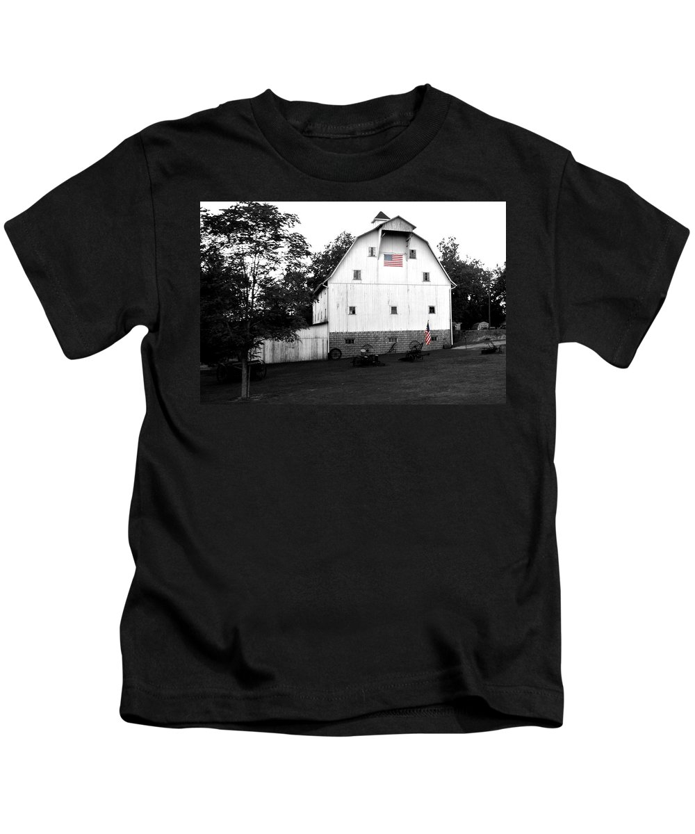 Great American Farmer Kids T-Shirt featuring the photograph Great American Farmer by Randall Branham
