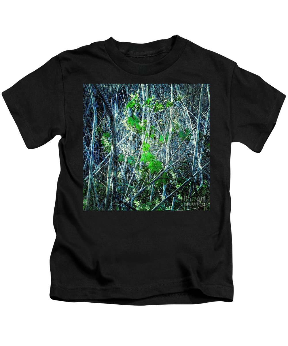 Nature Kids T-Shirt featuring the photograph Green In Winter by Davy Cheng