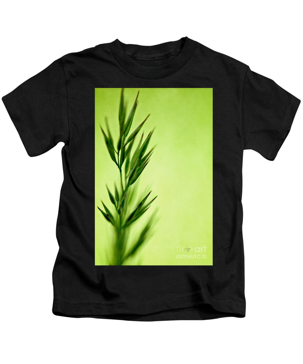 Green Kids T-Shirt featuring the photograph Green by Lois Bryan