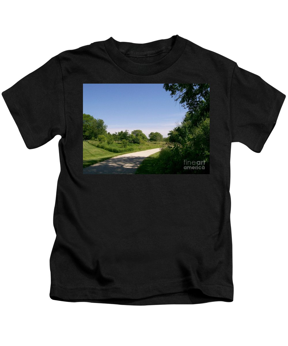 Greene Valley Kids T-Shirt featuring the photograph Greene Valley Trail by Laurie Eve Loftin