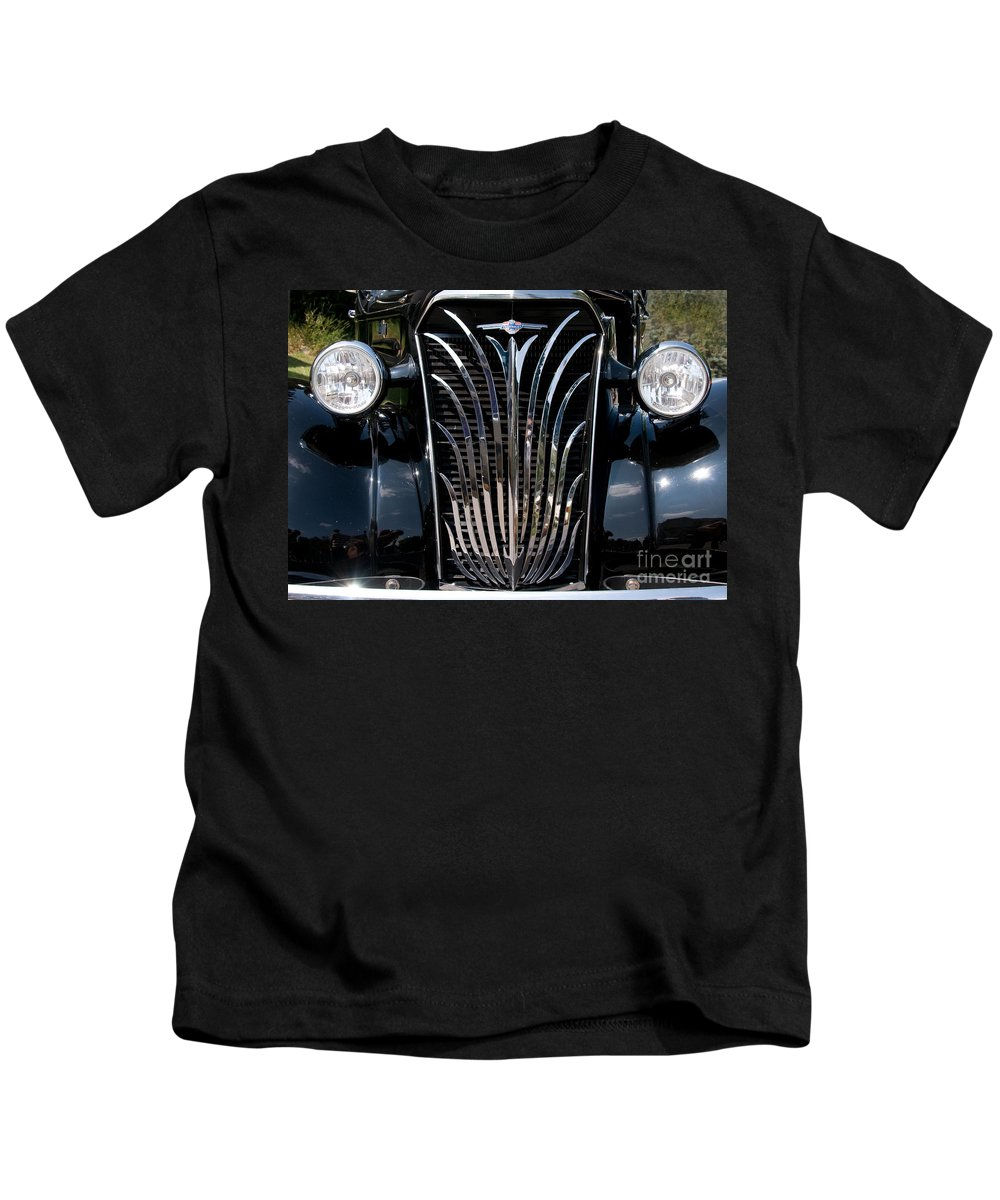 Grill Kids T-Shirt featuring the photograph Grill And Headlights by Vivian Christopher