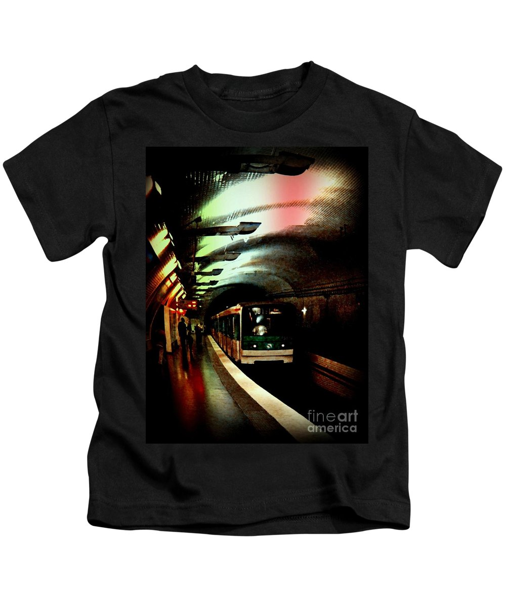 Subway Kids T-Shirt featuring the photograph Gritty by John Malone