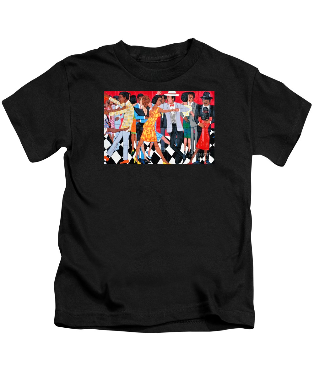 Faith Ringgold Groovin High Kids T-Shirt featuring the photograph Groovin High In Nyc by Regina Geoghan