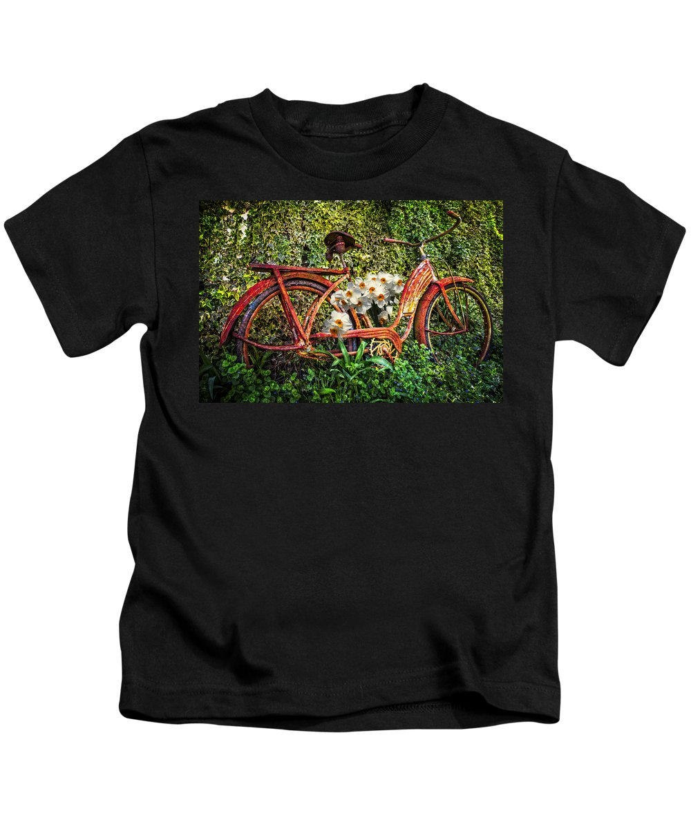 Appalachia Kids T-Shirt featuring the photograph Growing In The Garden by Debra and Dave Vanderlaan