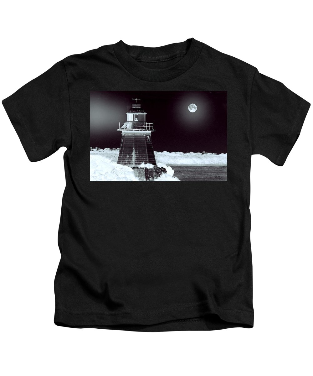 Landscapes Kids T-Shirt featuring the photograph Guiding Lights by Holly Kempe