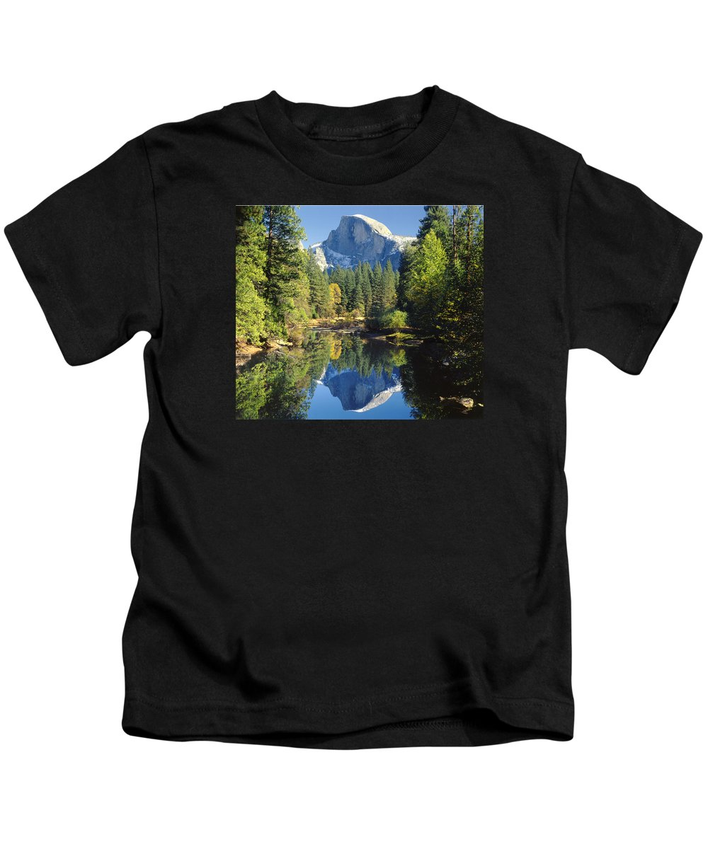 Halfdome Kids T-Shirt featuring the photograph 2m6708-half Dome Reflect by Ed Cooper Photography