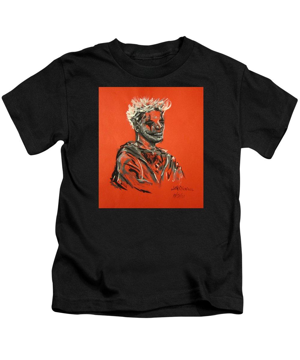 Halloween Kids T-Shirt featuring the painting Halloween Figure by Jeffrey Oleniacz