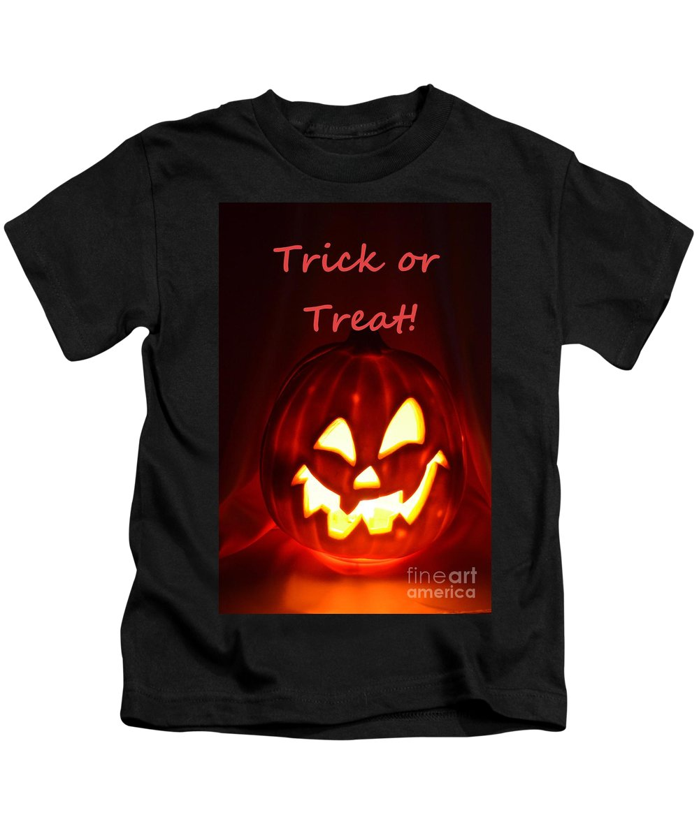 Halloween Kids T-Shirt featuring the photograph Halloween Trick Or Treat by Mary Deal