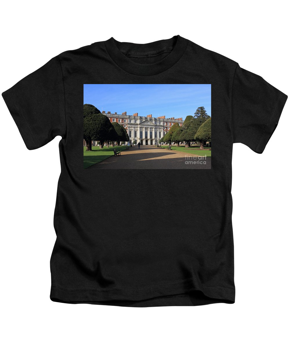 Hampton Court Palace England Kids T-Shirt featuring the photograph Hampton Court Palace England by Julia Gavin