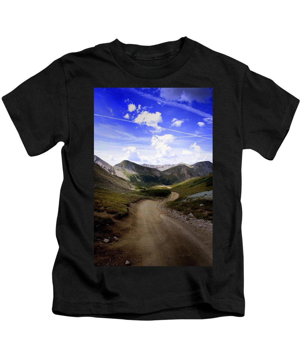 Pass Kids T-Shirt featuring the photograph Hancock Pass by Ellen Heaverlo