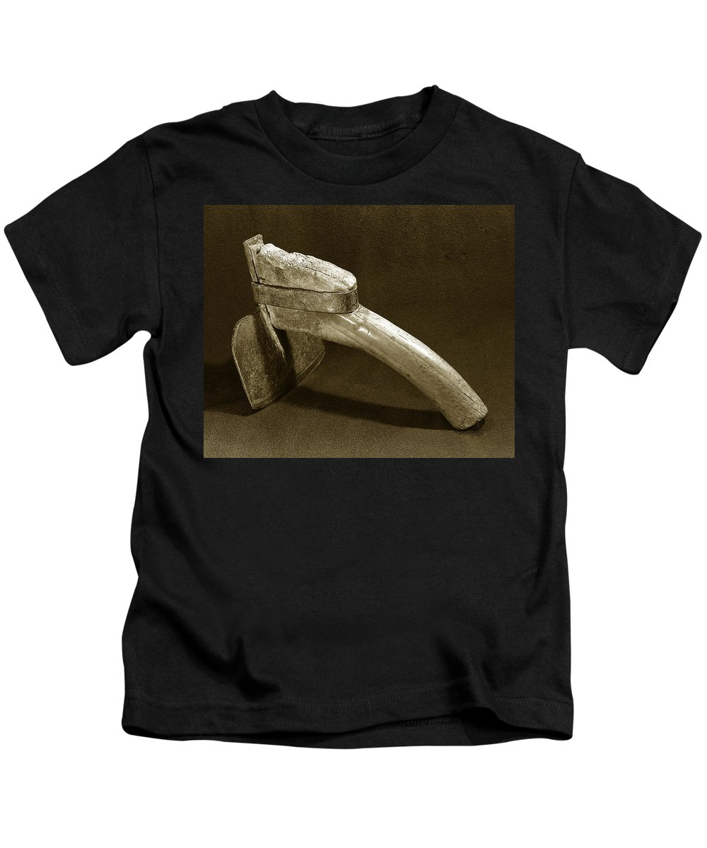 Old Tools Kids T-Shirt featuring the photograph Hand Hoe by Jim Smith