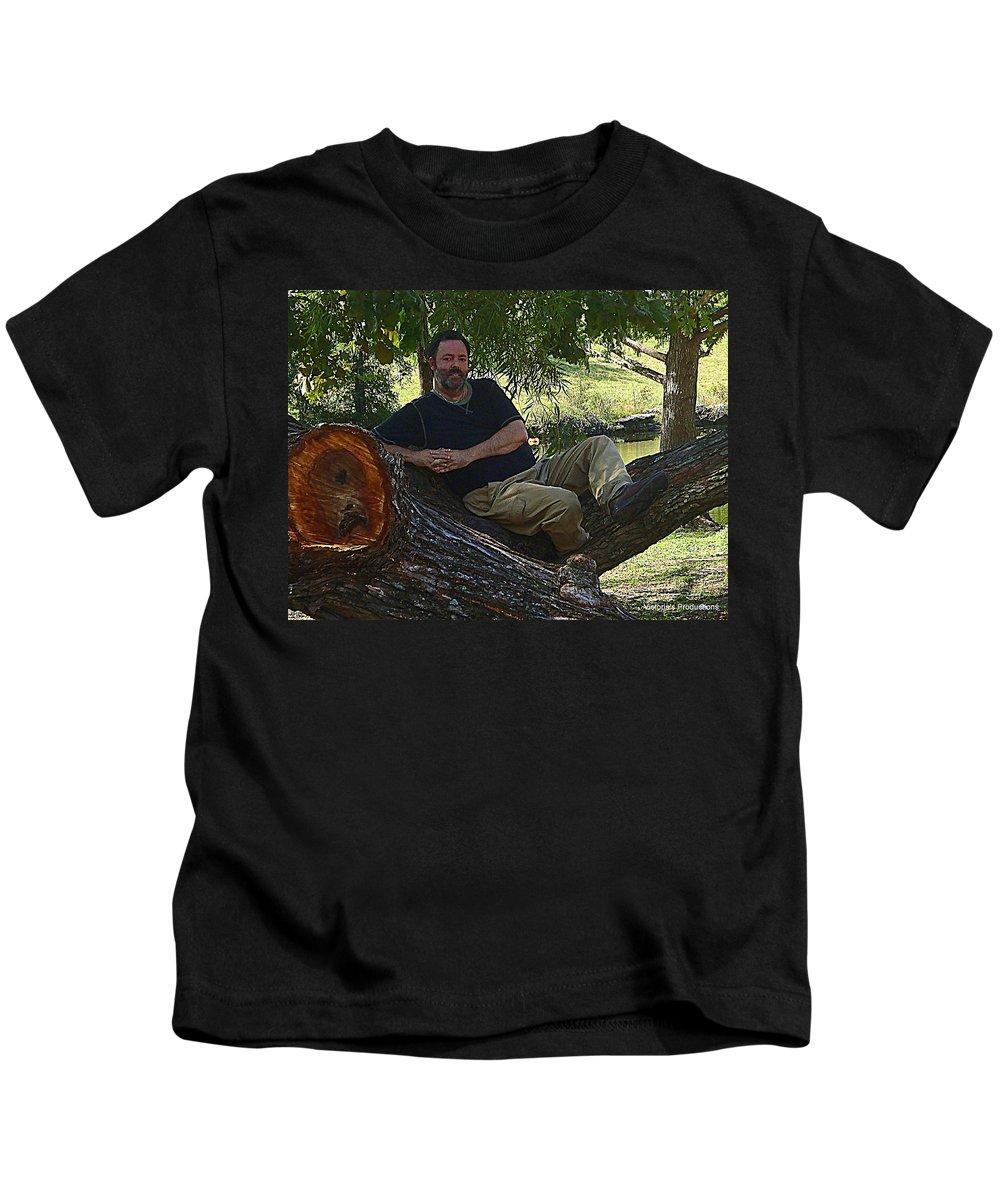 Handsome.beard Kids T-Shirt featuring the digital art Handsome by Victoria Beasley