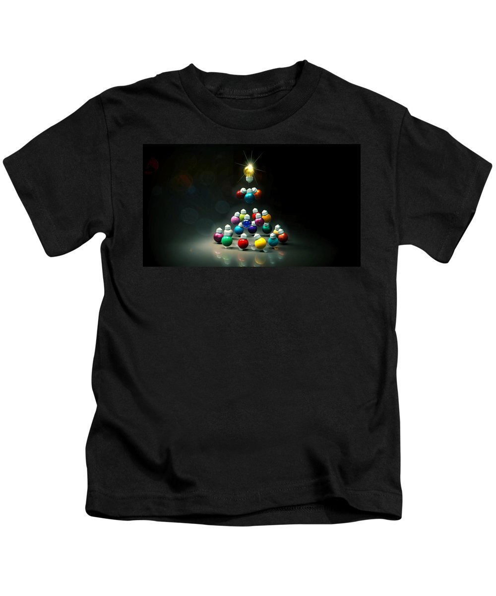 Christmas Kids T-Shirt featuring the digital art Happy Holidays by Adam Vance
