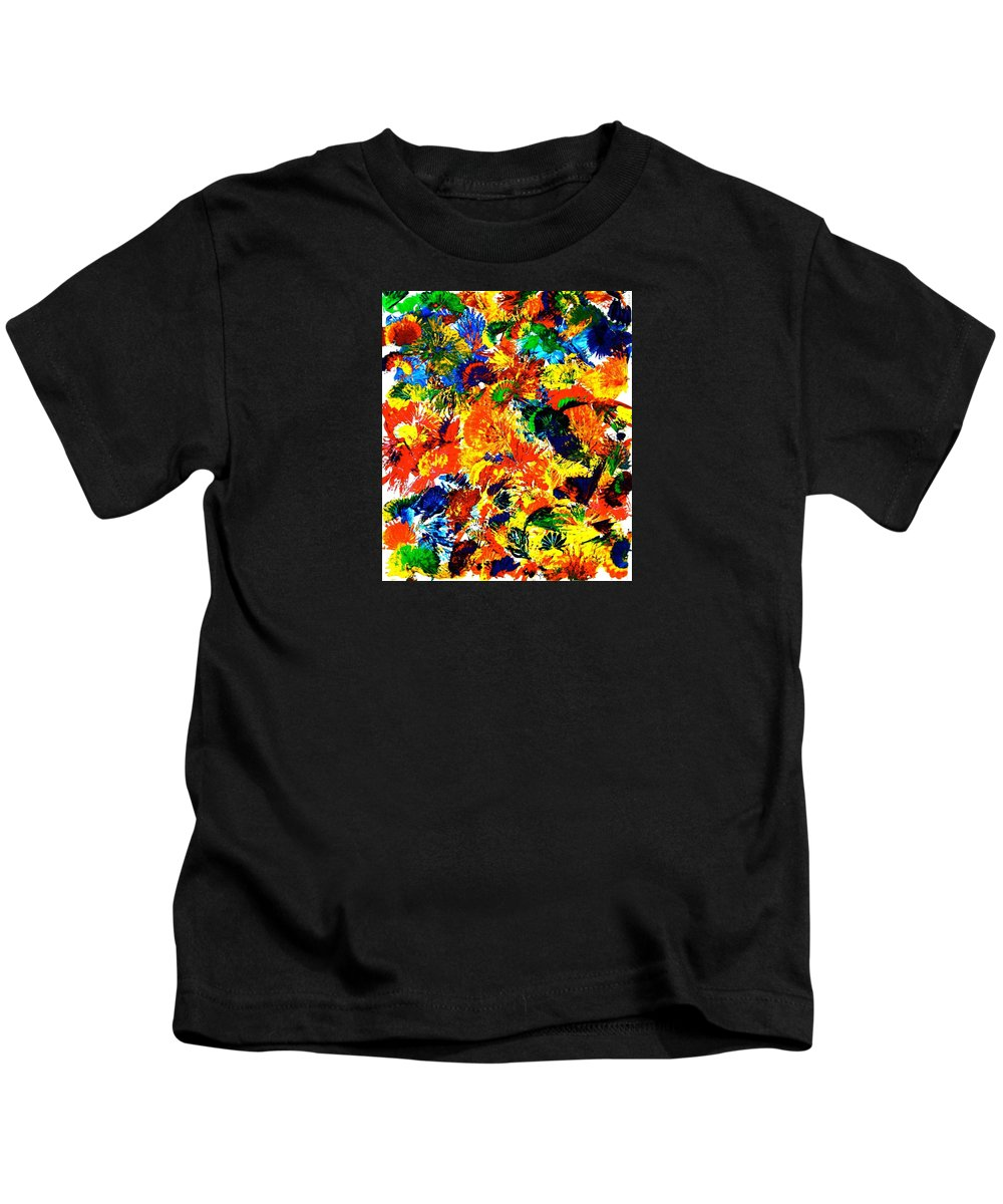 Painting With Acrylics Kids T-Shirt featuring the painting Happy Hour In Rio De Janeiro by Monique's Fine Art