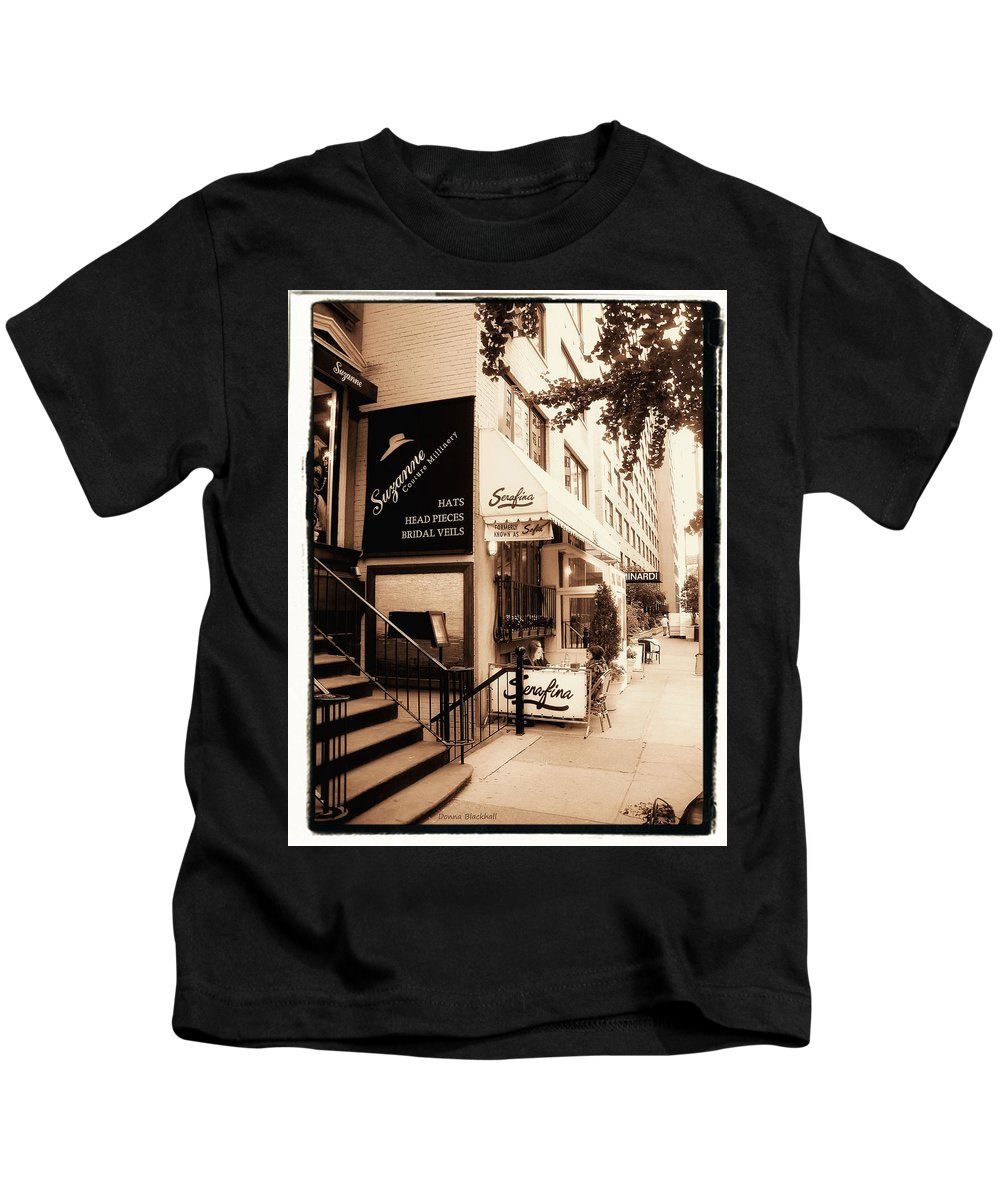 New York Kids T-Shirt featuring the photograph Hat Trick by Donna Blackhall