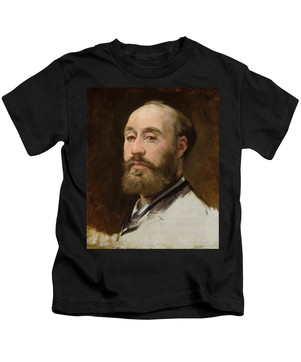 1882-1883 Kids T-Shirt featuring the painting Head Of Jean-baptiste Faure by Edouard Manet