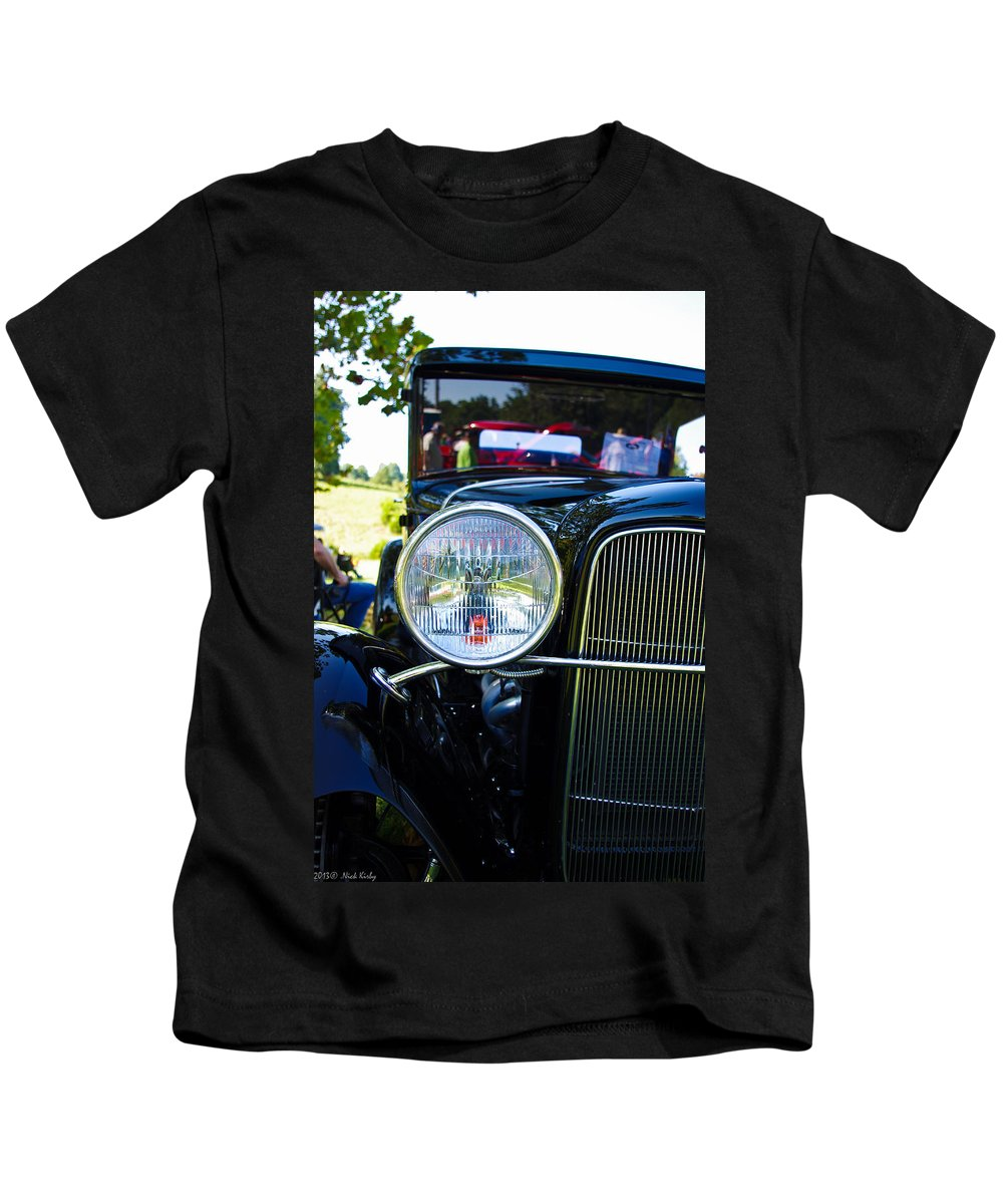 Headlight Kids T-Shirt featuring the photograph Headlight Of The Past 2 by Nick Kirby