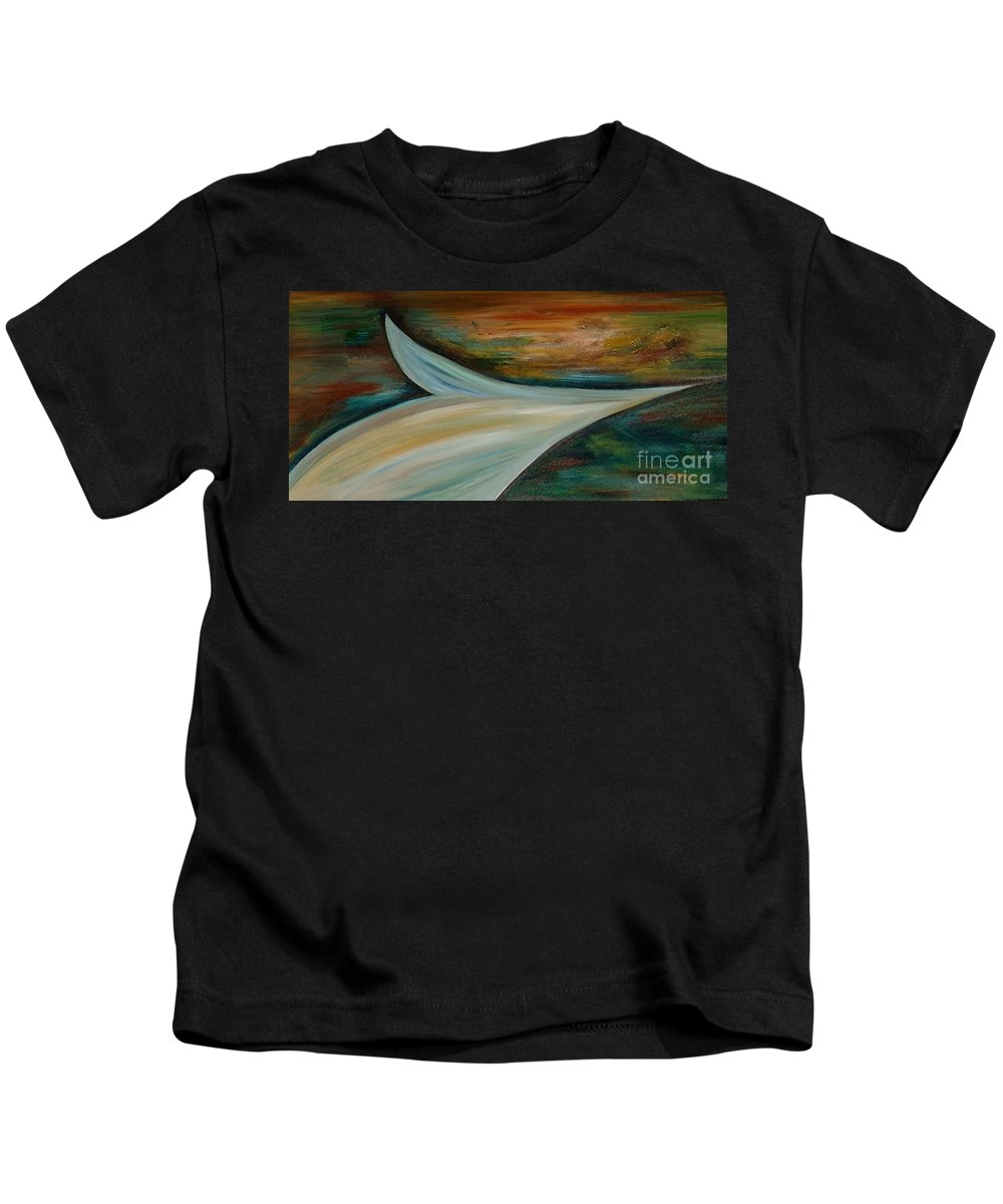 Abstract Kids T-Shirt featuring the painting Heaven by Silvana Abel