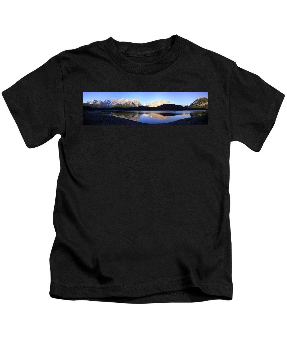 Panorama Kids T-Shirt featuring the photograph Heavenly Hike - Kananaskis Lakes, Alberta by Ian Mcadie