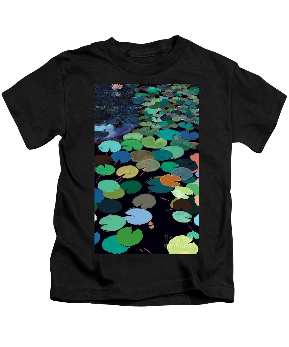 Landscape Kids T-Shirt featuring the painting Heavens Touch by Allan P Friedlander