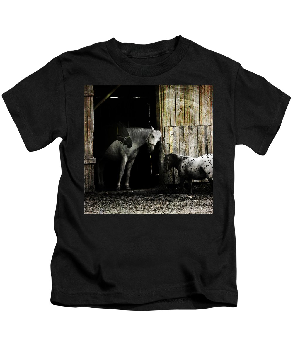 Guest Kids T-Shirt featuring the photograph Hello Neighbour by Angel Tarantella