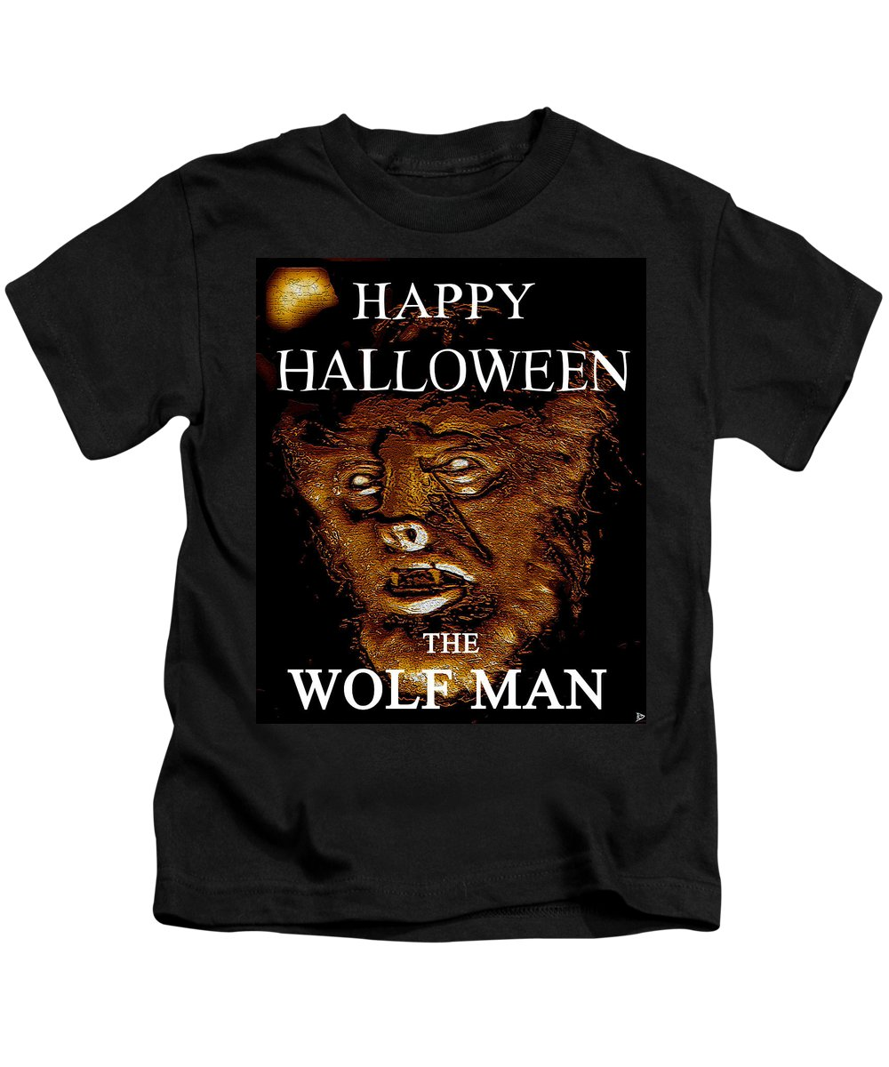 Post Card Kids T-Shirt featuring the painting Hh Wolfman Classic Style by David Lee Thompson