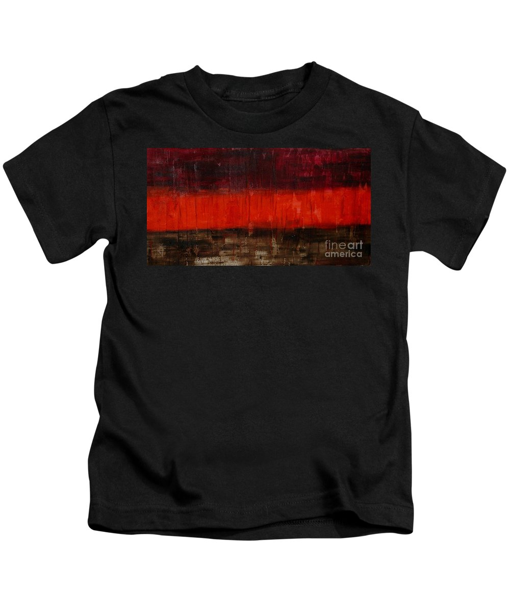 Modern Art Kids T-Shirt featuring the painting High Energy by Silvana Abel