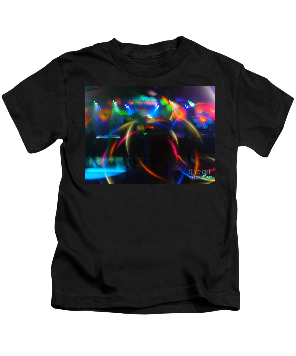 High Frequency Glow Kids T-Shirt featuring the photograph High Frequency Glow by Feile Case