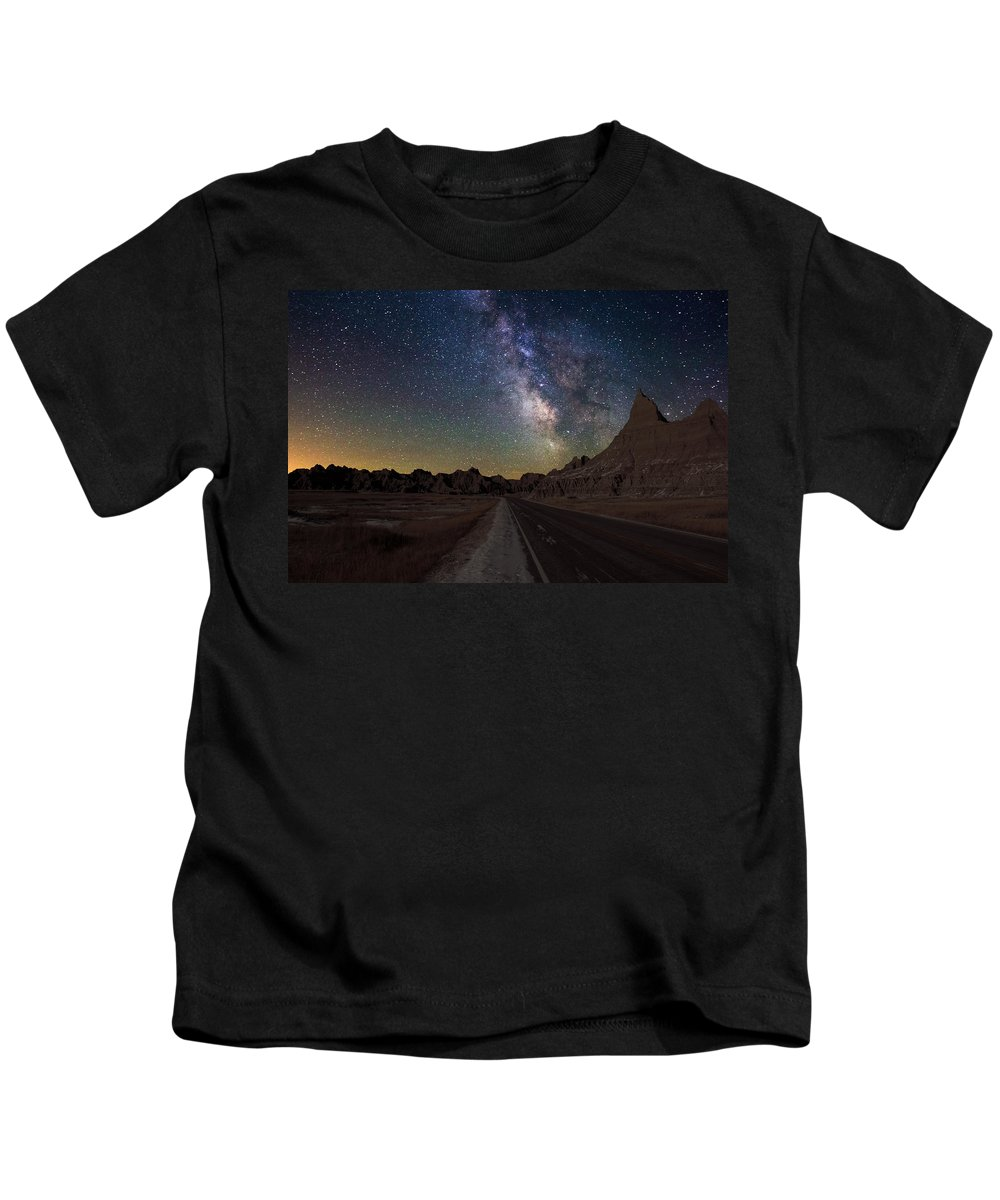 Milkyway Kids T-Shirt featuring the photograph Highway To by Aaron J Groen