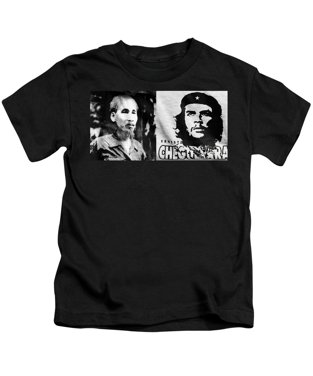 Ho Kids T-Shirt featuring the photograph Ho Chi Minh And Che Guevara by Rick Piper Photography