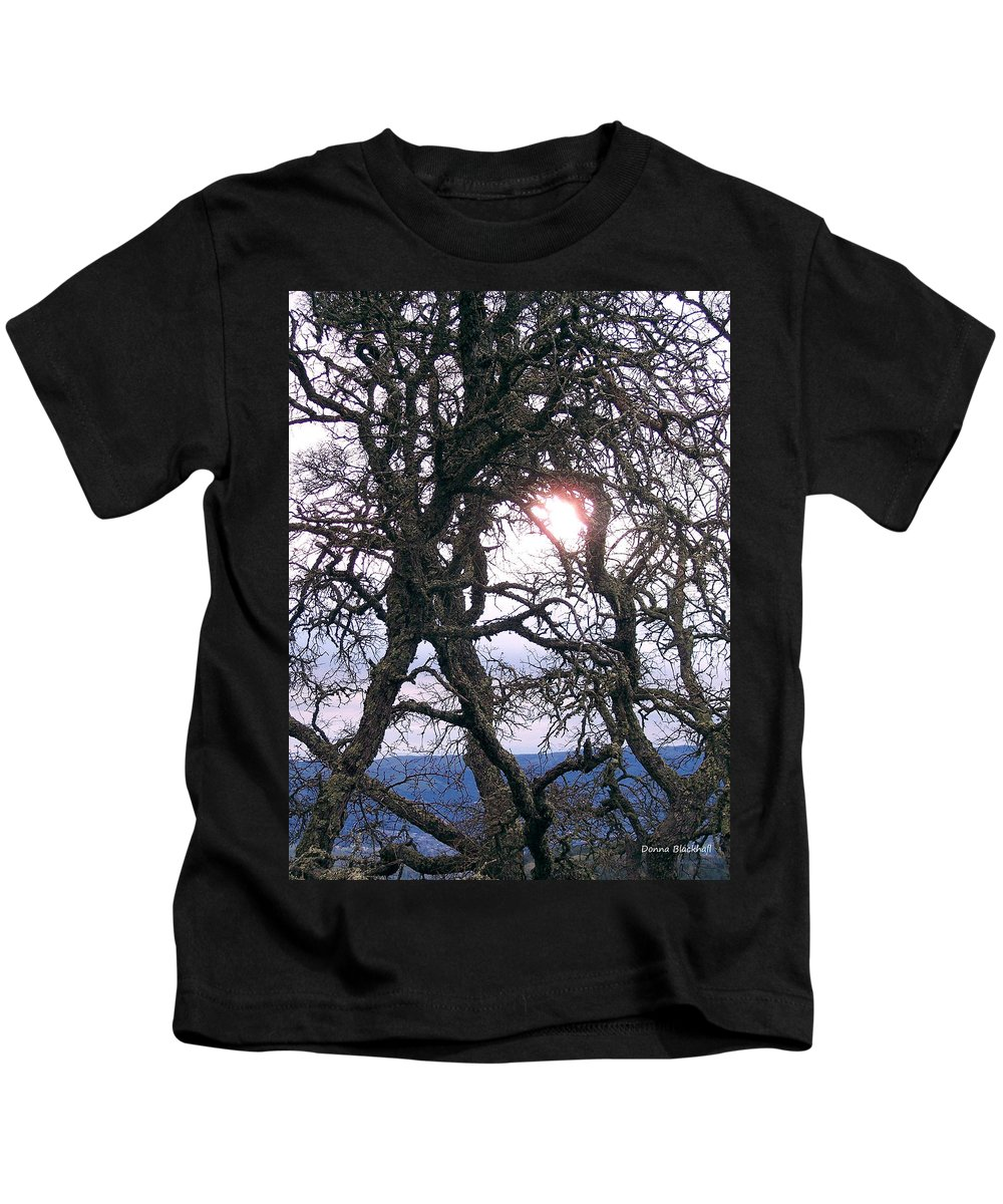 Sun Kids T-Shirt featuring the photograph Holding On To The Sun by Donna Blackhall