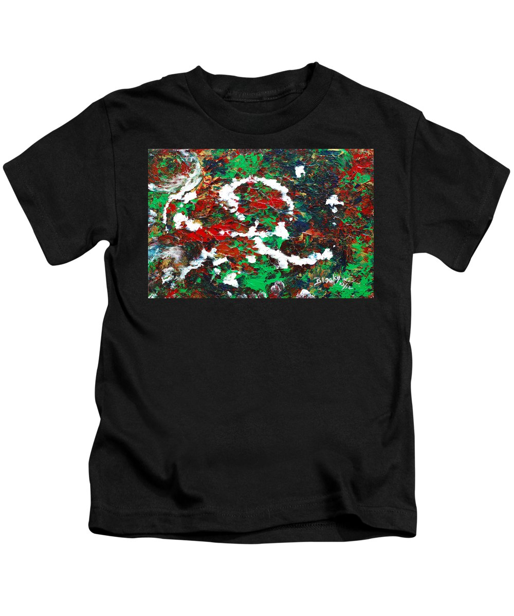 Bold Abstract Kids T-Shirt featuring the painting Holiday Spirit by Donna Blackhall