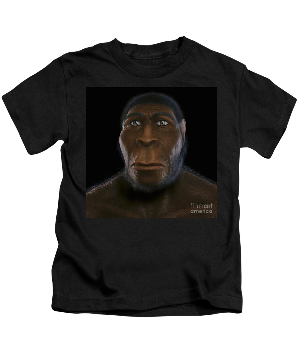 Prehistoric Kids T-Shirt featuring the photograph Homo Erectus by Science Picture Co