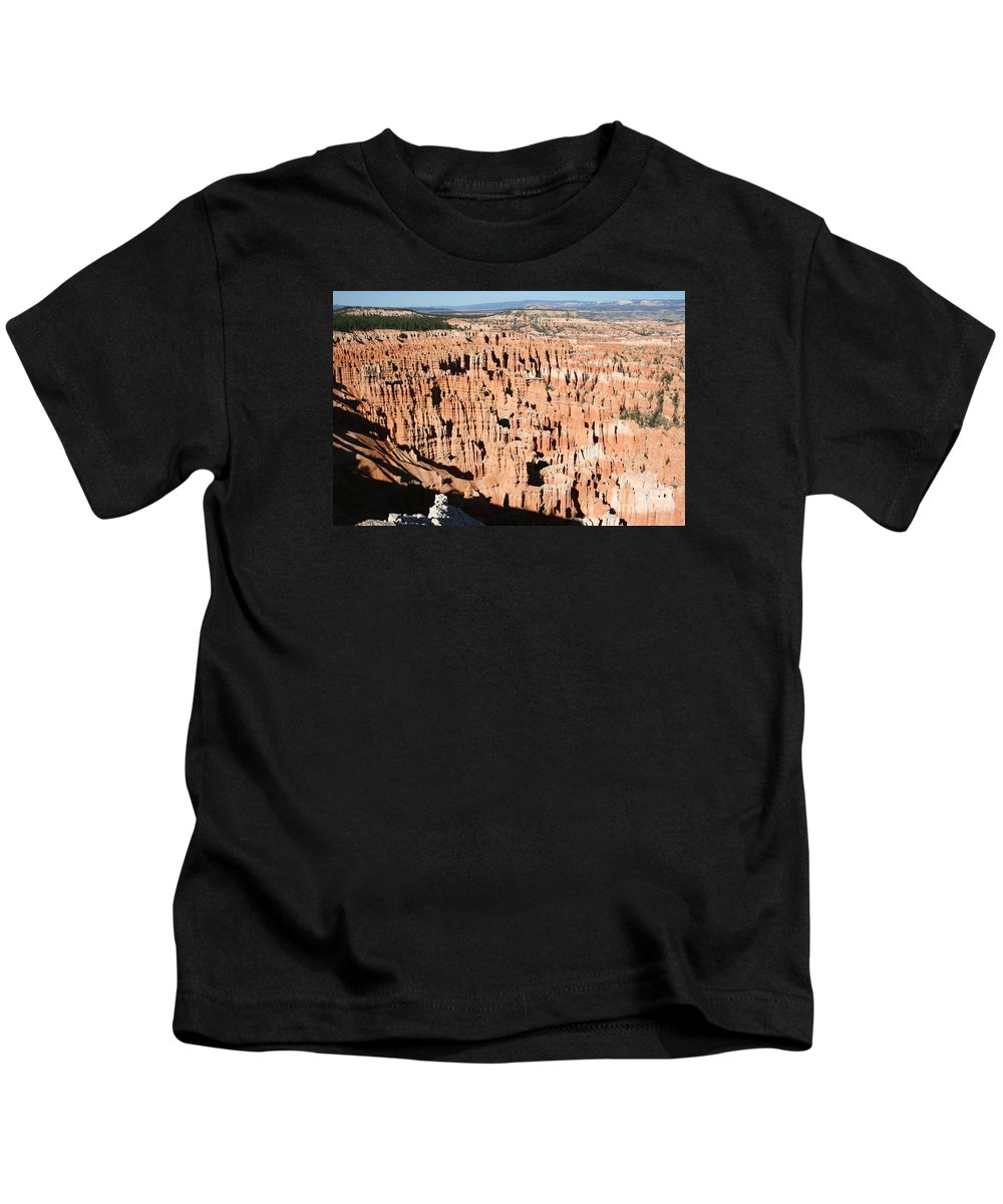 Canyon Kids T-Shirt featuring the photograph Hoodoos Of Bryce Canyon by Christiane Schulze Art And Photography
