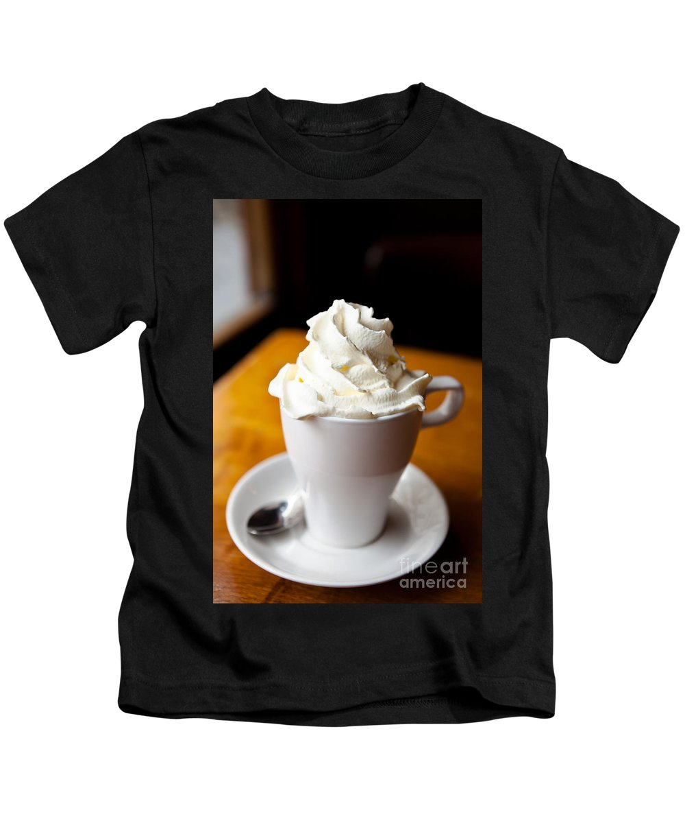 Belgium Kids T-Shirt featuring the photograph Hot Chocolate With Creme Chantilly by Leslie Banks