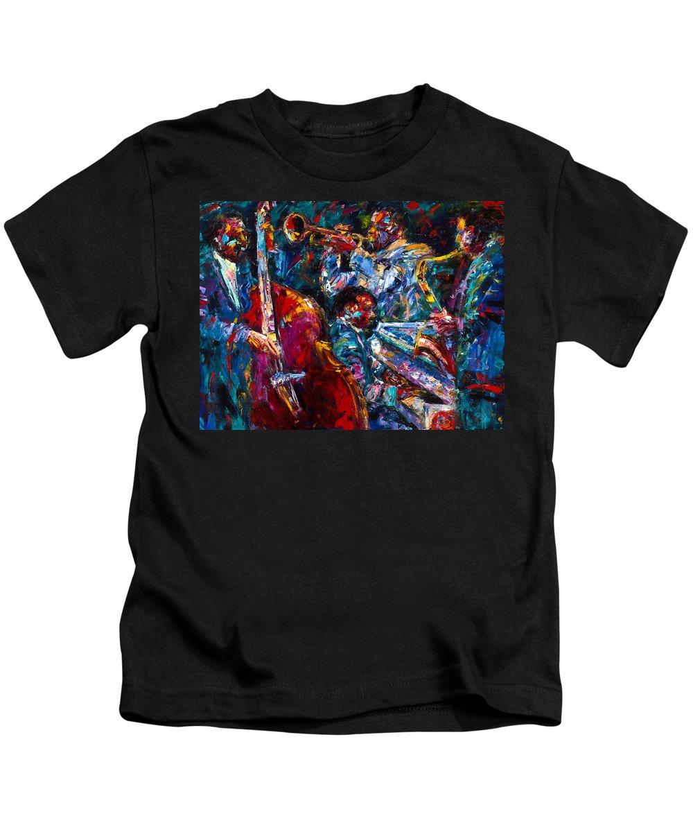 Jazz Kids T-Shirt featuring the painting Hot Jazz by Debra Hurd