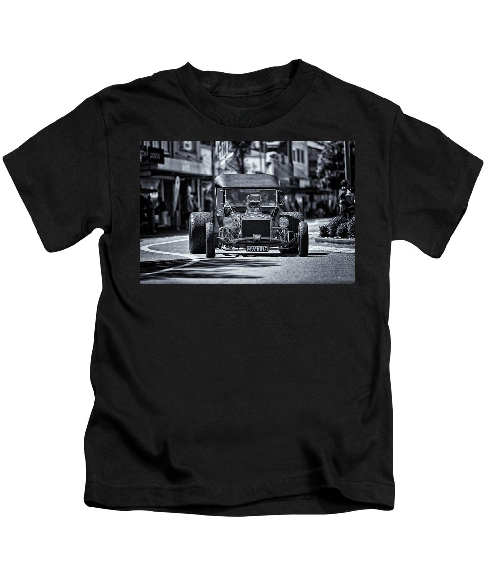America Kids T-Shirt featuring the photograph Hot Rod Mono by Russ Dixon