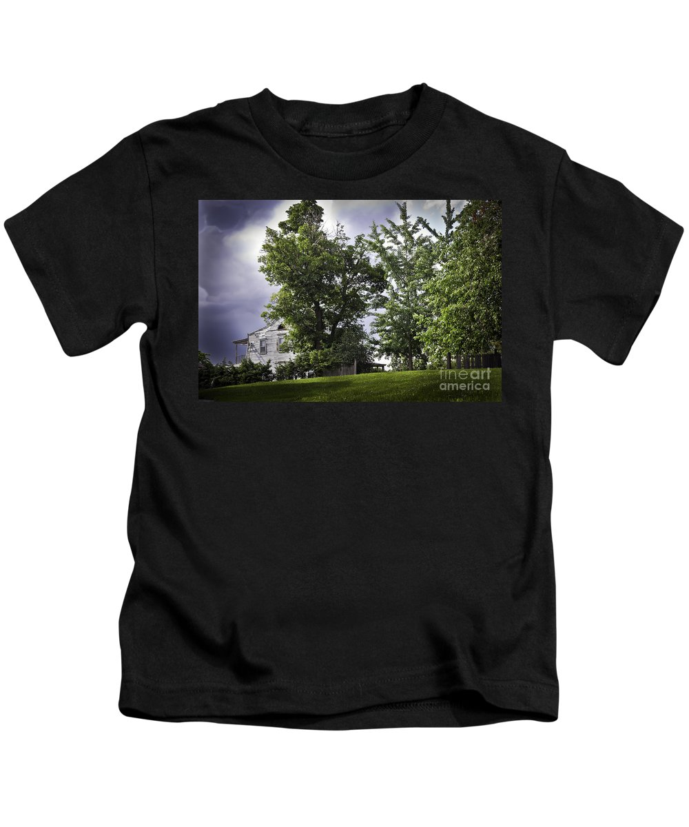 House Kids T-Shirt featuring the photograph House On The Hill 3 by Madeline Ellis