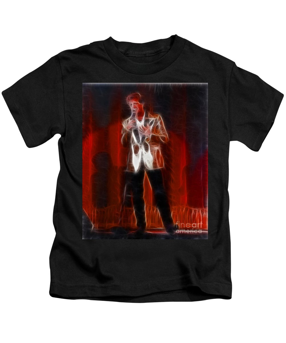 Huey Lewis Kids T-Shirt featuring the photograph Huey Lewis-fractal by Gary Gingrich Galleries