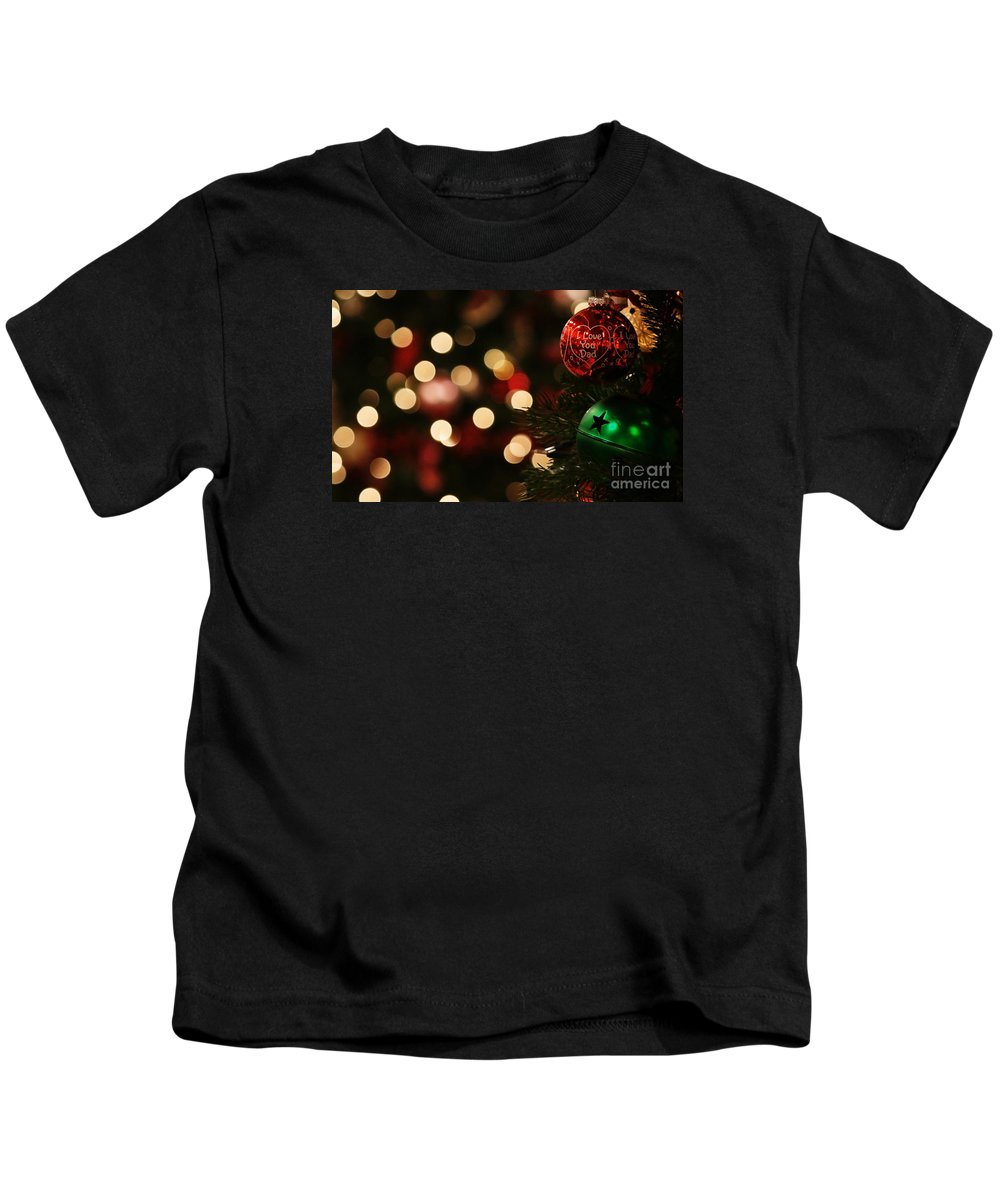 Christmas Kids T-Shirt featuring the photograph Hugs And Kisses by Linda Shafer