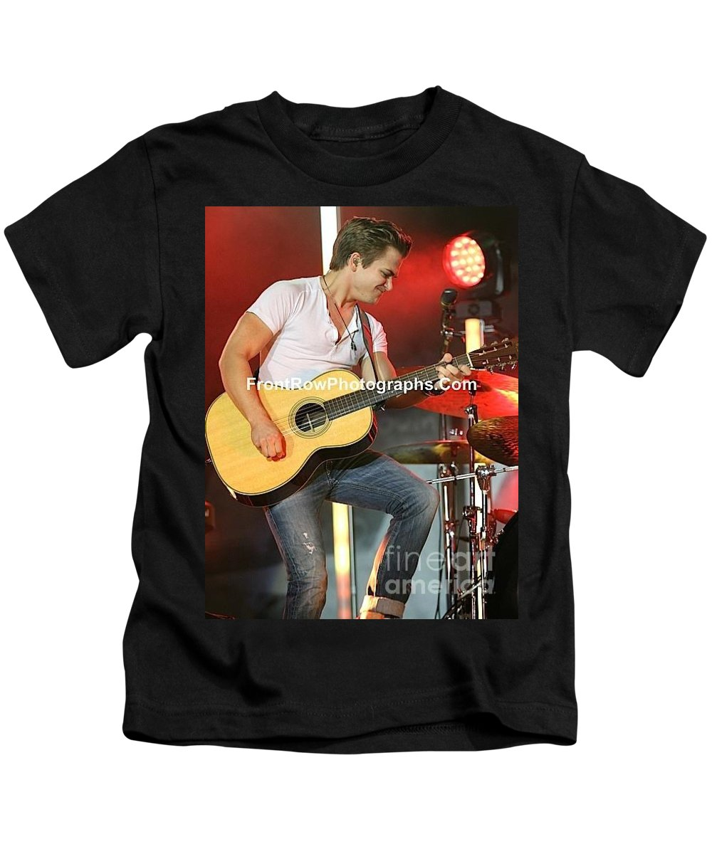 Concert Kids T-Shirt featuring the photograph Musician Hunter Hayes by Concert Photos